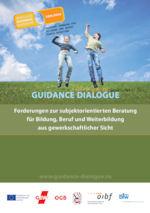 EU-Projekt Bildungsberatung: Flyer Guidance Dialogue (deutsch)